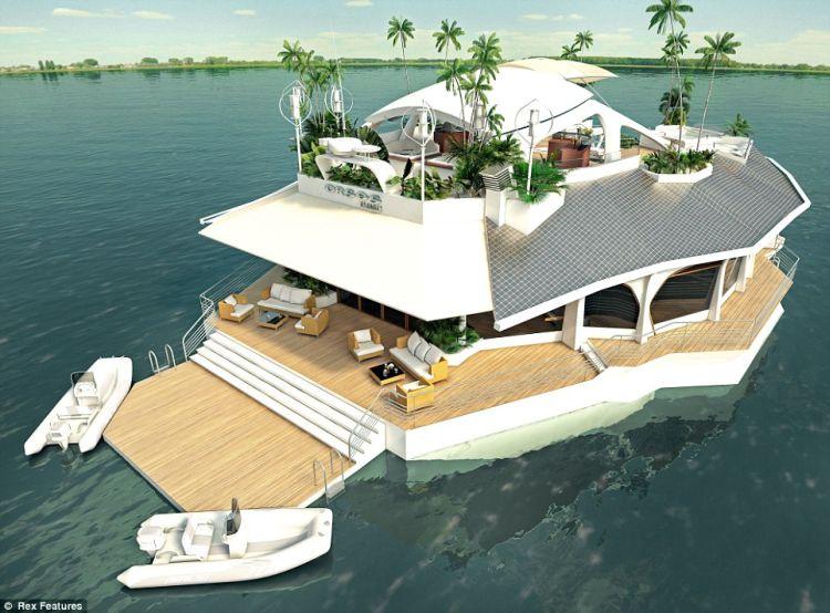 mobilna prywatna wyspa