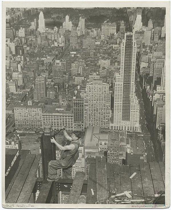 stare zdjęcia - budowa Empire State Building