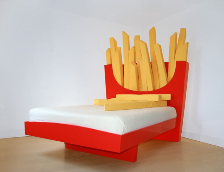 frytkowe łóżko
