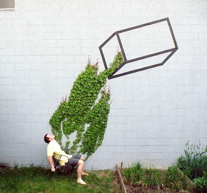 street art idealnie dopasowany do otoczenia