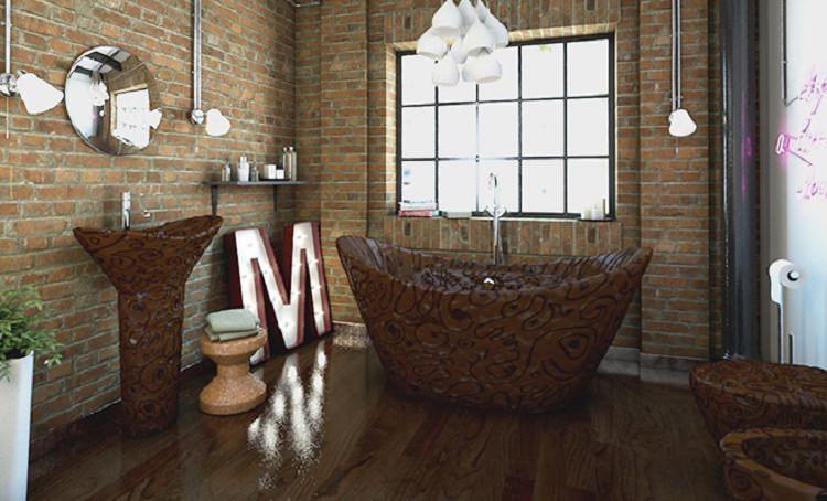 czekoladowa łazienka