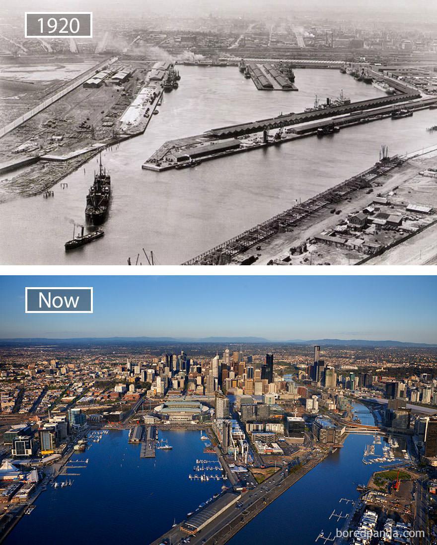 Melbourne kiedyś i dziś