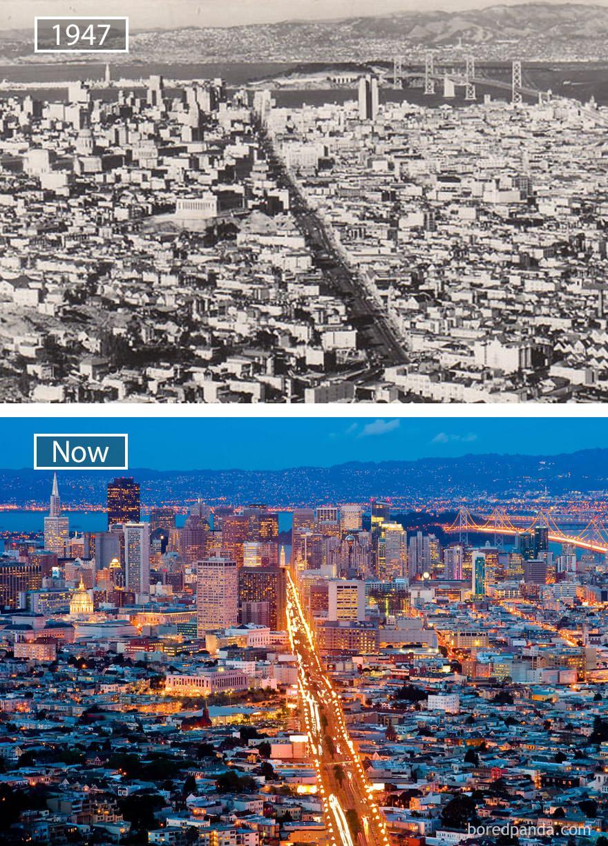 San Francisco kiedyś i dziś