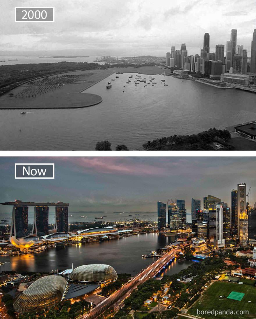 Singapur kiedyś i dziś