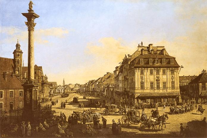 Bernardo Bellotto, Krakowskie Przedmieście od strony Bramy Krakowskiej XVIII