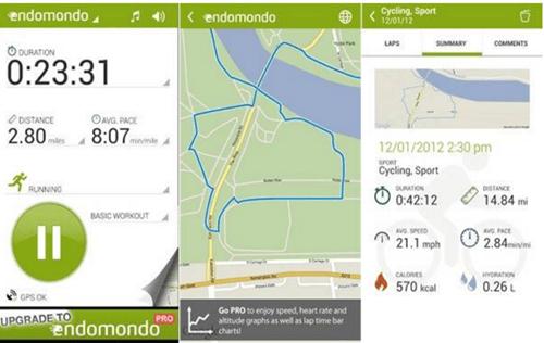 Endomondo, Aplikacja dla biegaczy
