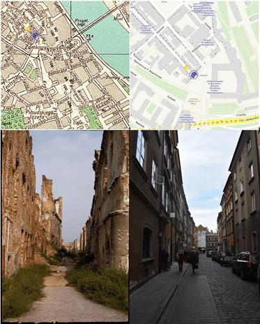 Stare Miasto zniszczone w czasie wojny
