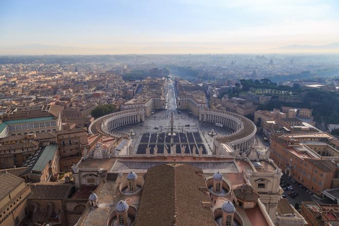 Widok z kopuły św. Piotra