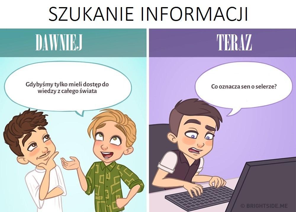 Szukanie informacji - kiedyś i dziś