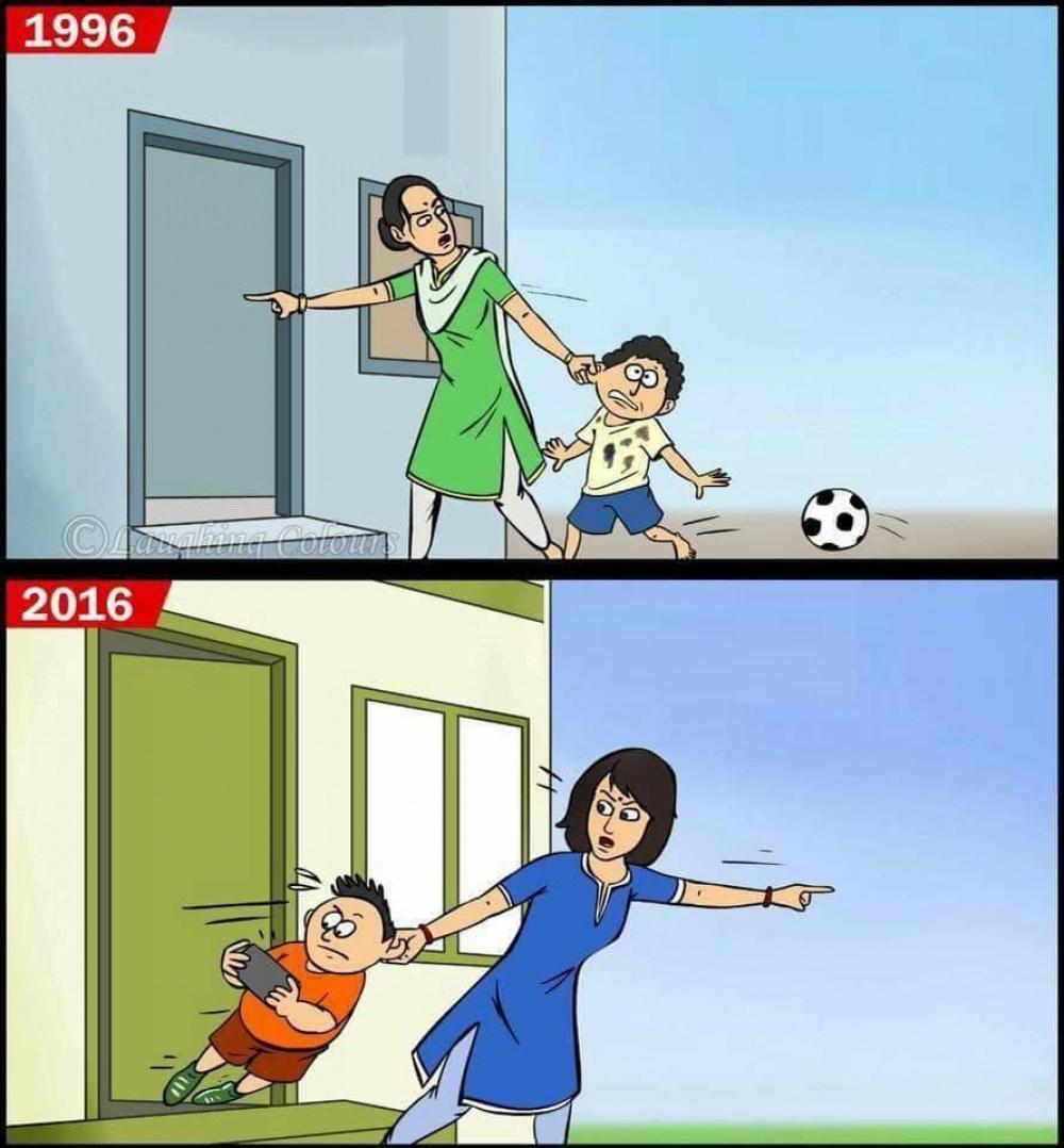 Gra w piłkę - kiedyś i dziś