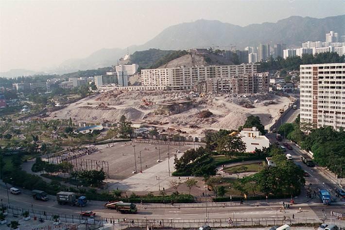 Kowloon - rozbiórka dzielnicy