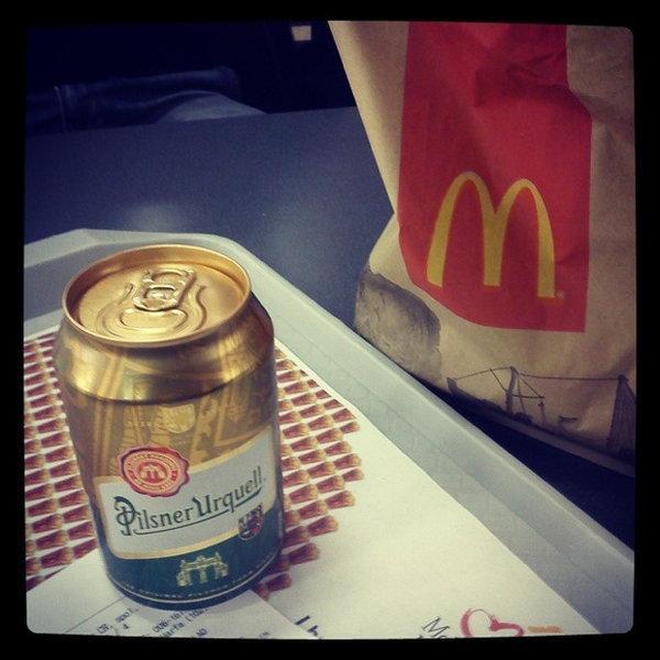 Piwo - dostępne w lokalach w czeskich McDonalds'ach