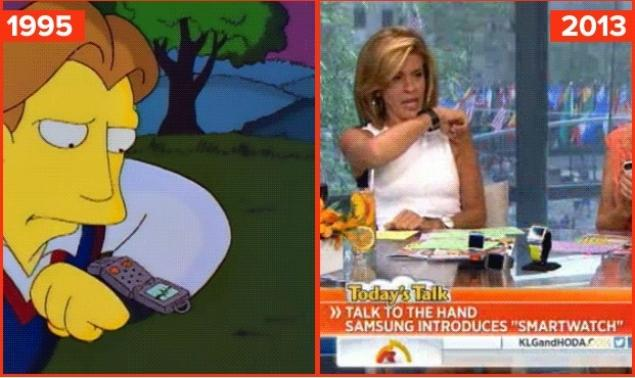 Smartwach w kreskówce The Simpsons