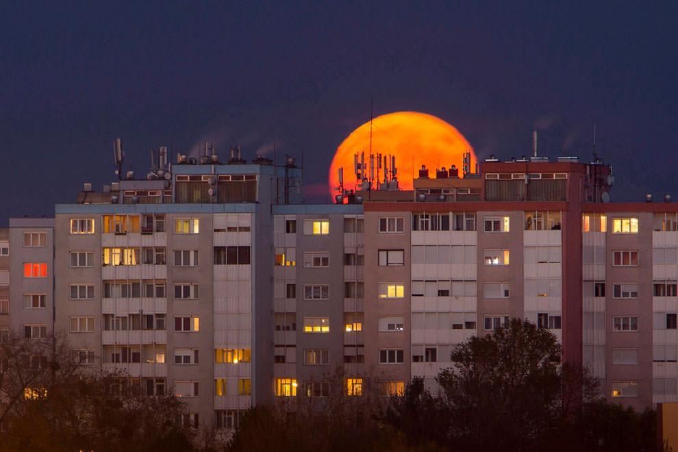 Nagykanizsa, Wegry - superksiężyc
