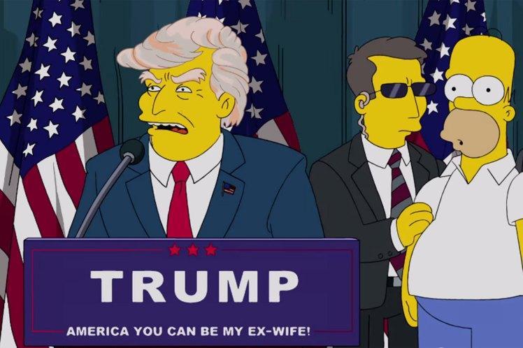 Donald Trump w kreskówce The Simpsons.(Zdjęcie; 20th Century FOX)