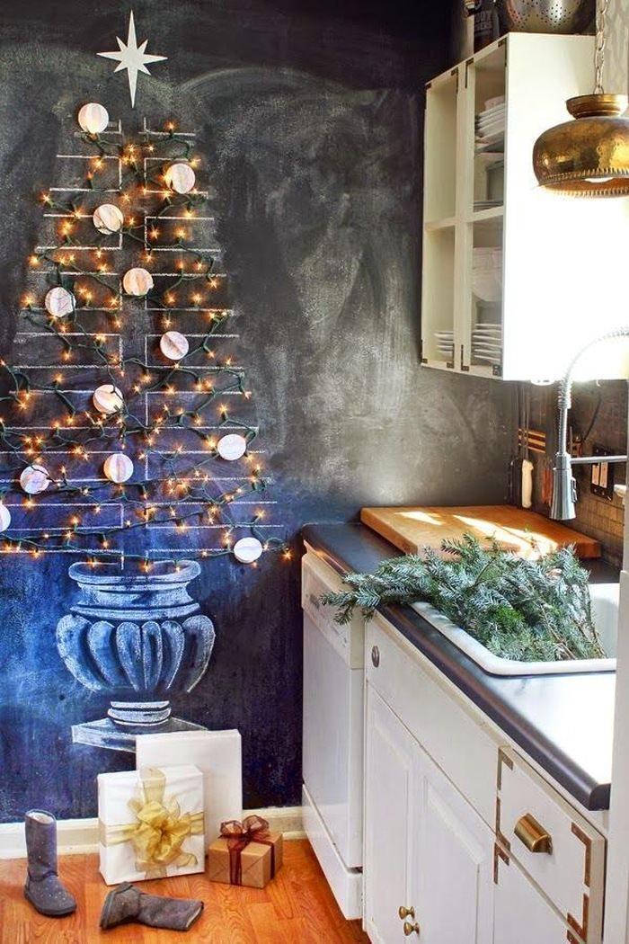 alternatywa dla tradycyjnej choinki - pomysł na choinkę w kuchni