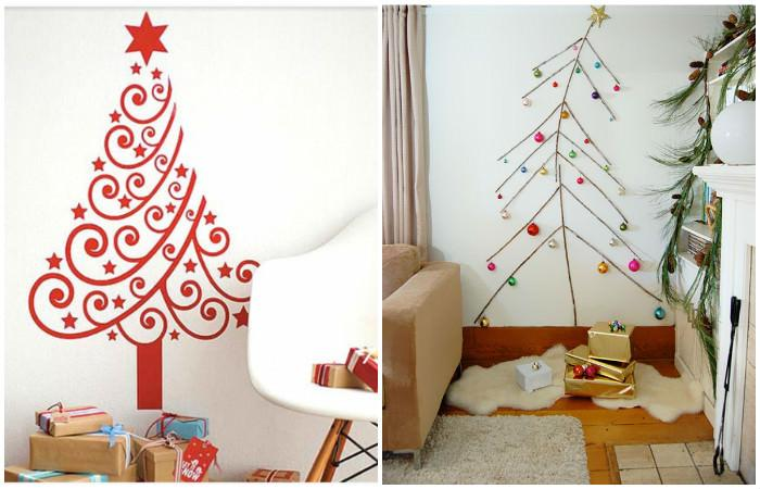 alternatywa dla tradycyjnej choinki - choinka z papieru dekoracyjnego