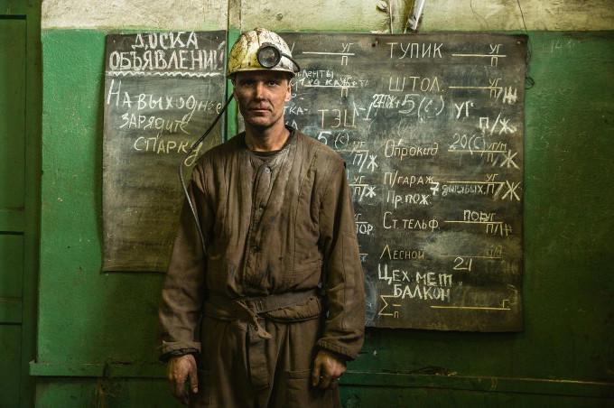 Górnik z Ukrainy w Norwegii.