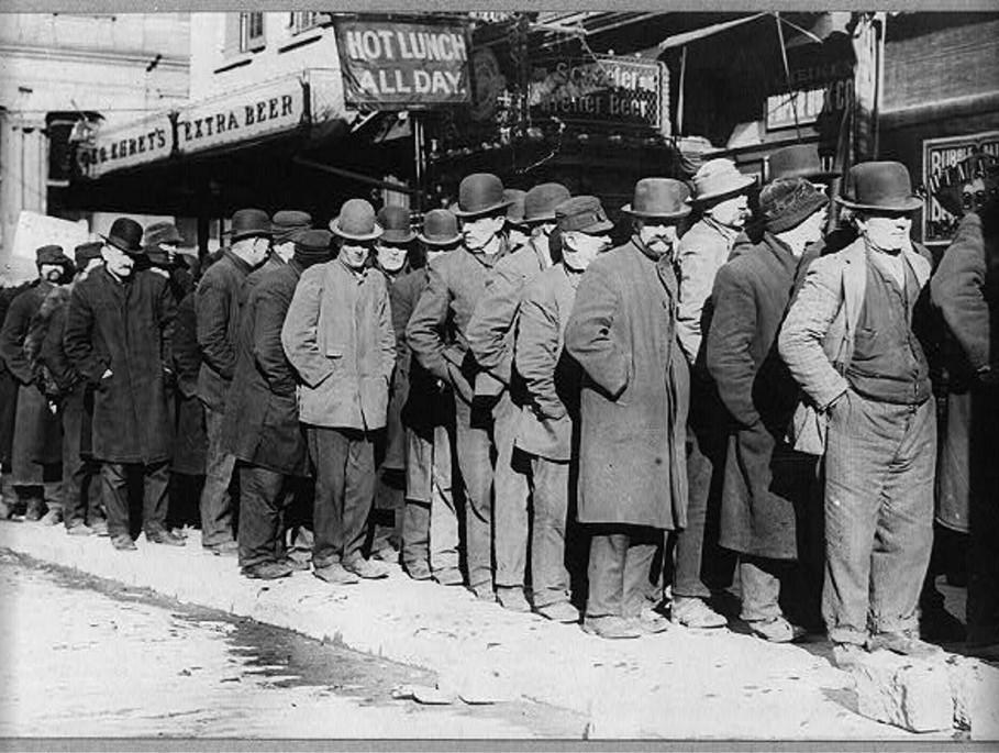 Kolejka po chleb, Nowy Jork 7 lutego 1910 roku