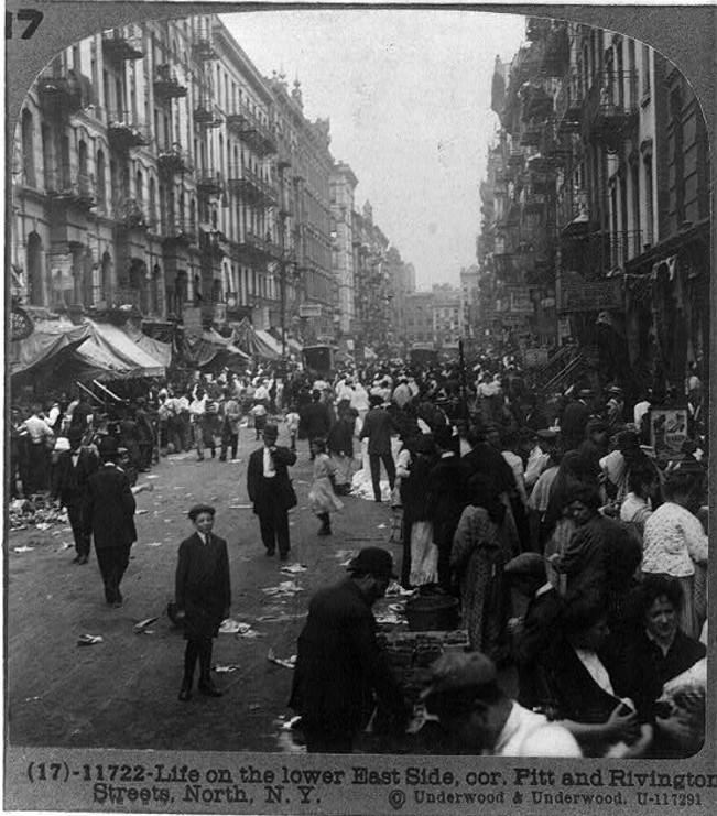 Nowy Jork East Side rok 1915