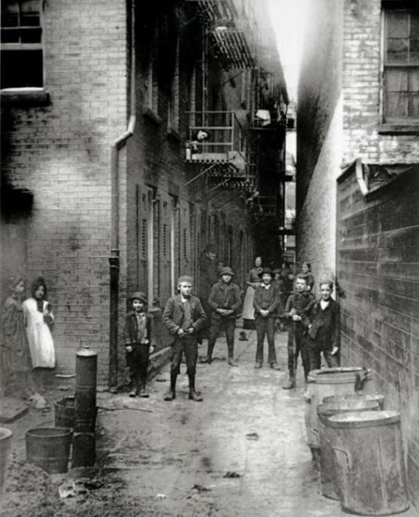 Nowy Jork dolny Manhattan rok 1888