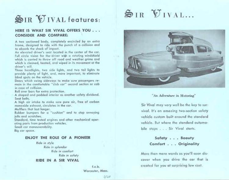 Sir Vival - czy to najbrzydszy samochód w historii?