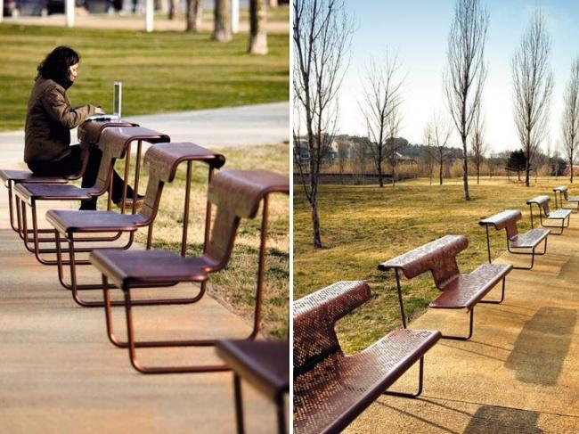 wielofunkcyjna ławka parkowa