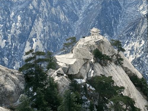 Chiny - Hua Shan najtrudniejszy szklak turystyczny droga