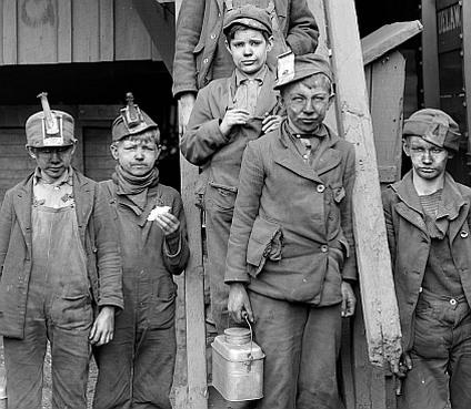 Dzieci pracujące w angielskich kopalniach