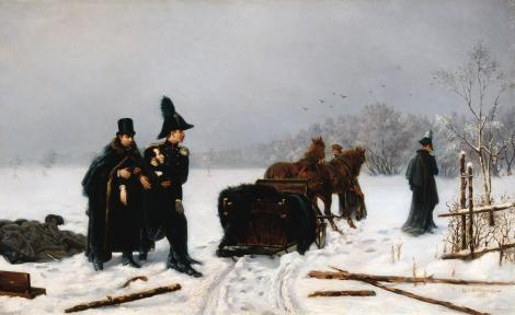 Sekundanci eskortują rannego w pojedynku Puszkina - obraz Aleksandra Naumowa z 1884 roku.