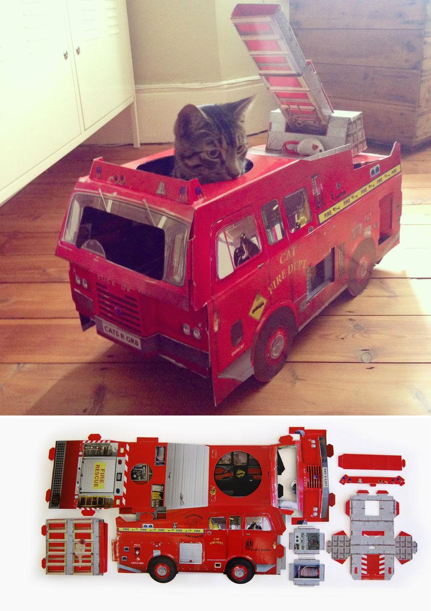 pomysłowe kryjówki dla kotów