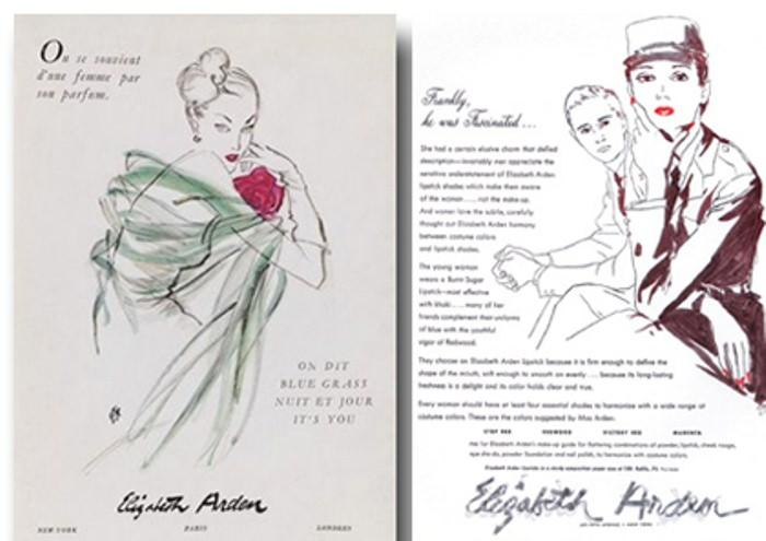 Reklama kosmetyków Elizabeth Arden w magazynie Vogue