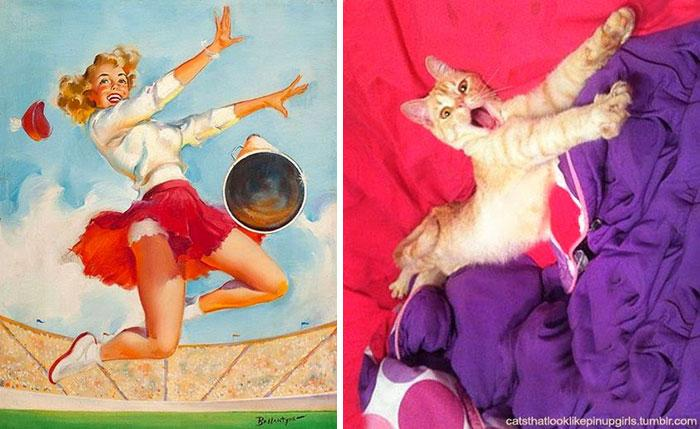 funny-cats-vintage-pin-up-girls-15