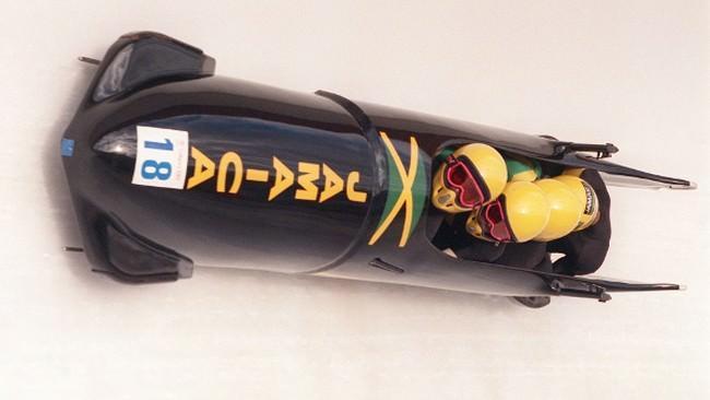 Jamajska drużyna bobslejowa w Calgary 1988 rok
