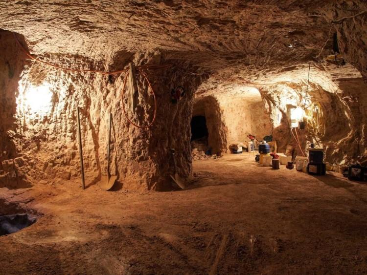 Podziemne tunele w Coober Pedy