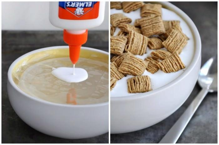klej zamiast mleka w reklamie