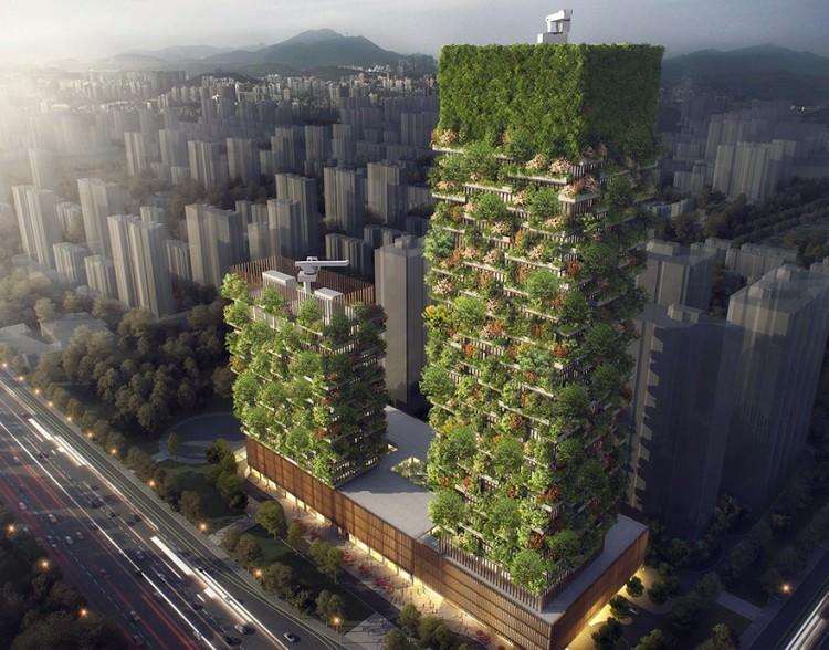 Nanjing Towers - wizualizacja
