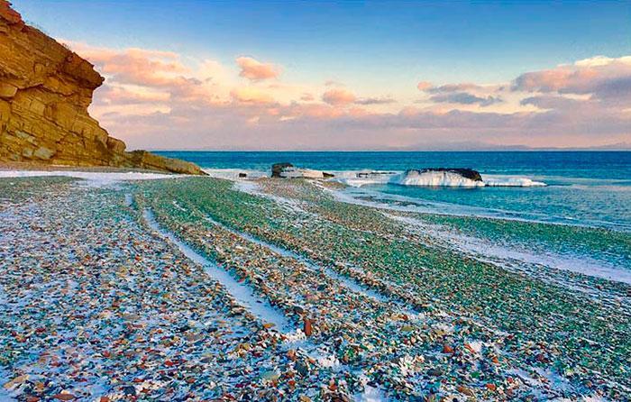 vodka-beach-bottle-pebbles-glass-ussuri-bay-russia-1