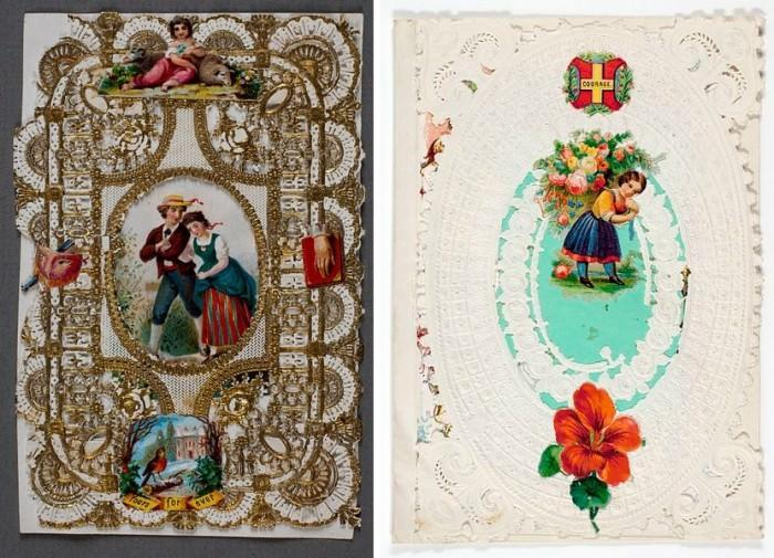 Pierwsze kartki walentynkowe produkowane na masową skalę autorstwa Esther Howland