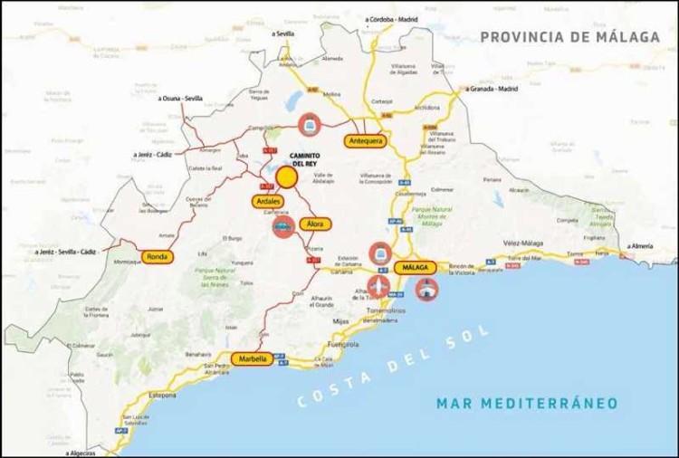 Caminito del Rey mapa
