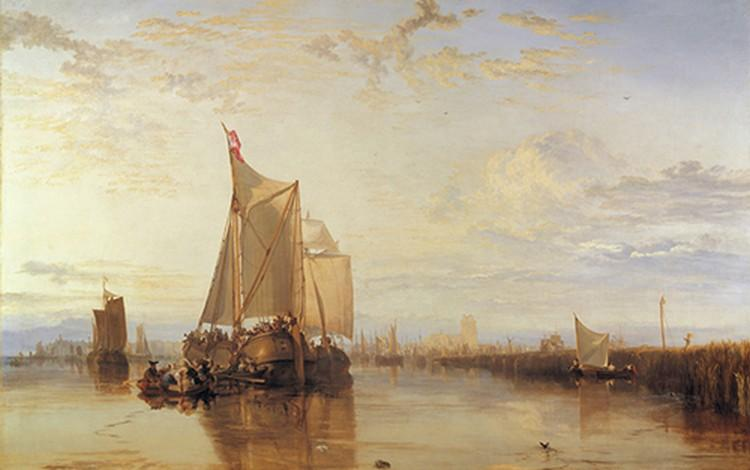 The Dort packet-boat from Rotterdam becalmed
