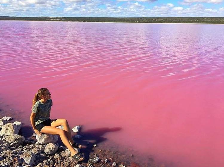 Jezioro Hillier różowe