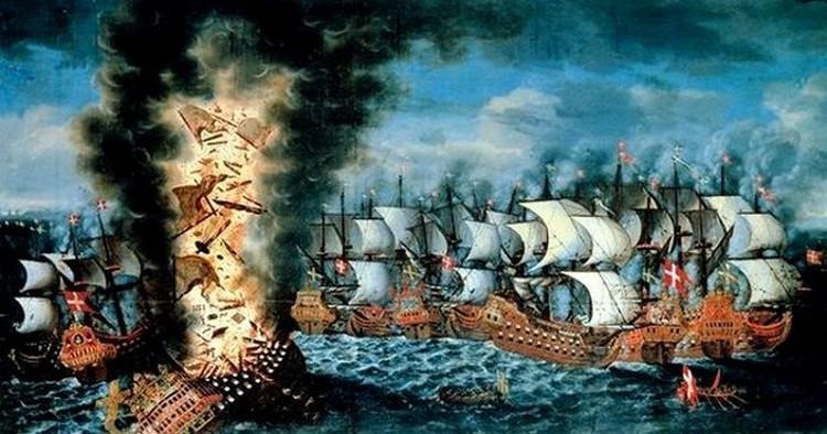 walka z udzialem statku Kronan