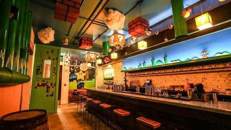 Pub inspirowany grą Super Mario Bros w Waszyngtonie