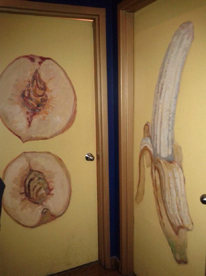 kreatywne i ciekawe piktogramy w toaletach