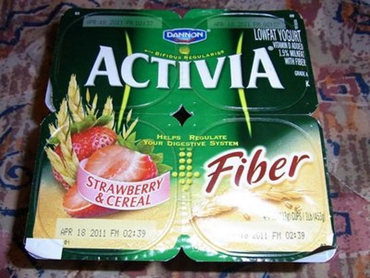 jogurty activia