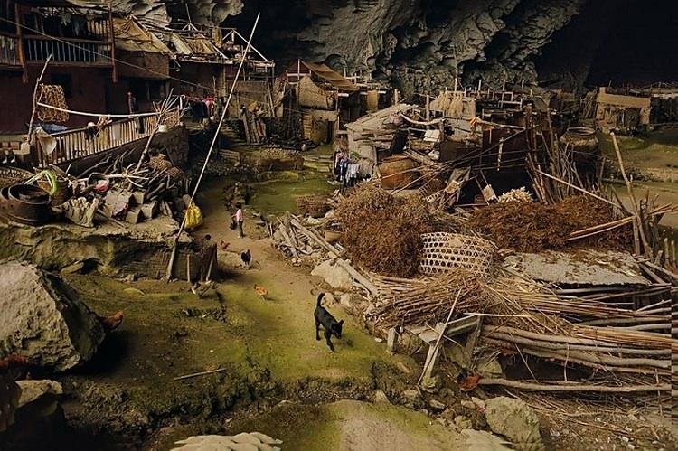 Zhongdong - wioska w środku jaskini