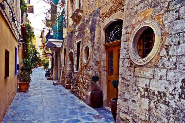 Chania, wąskie uliczki starego miasta