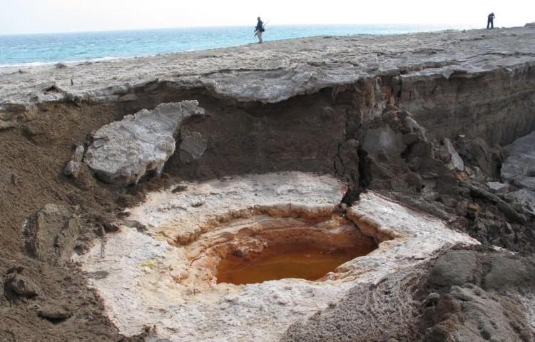 Niebezpieczne zapadlisko w nad Morzem Martwym