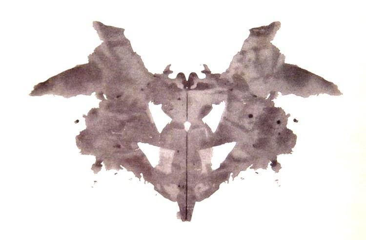 plamy atramentowe z testu Rorschacha
